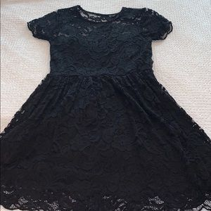 black dress with lace over-lay!